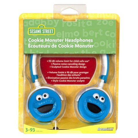 iSound Sesame Street 3D Cookie Monster Headphones - Blue (DGUN-2743)