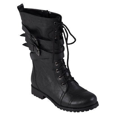 Women's Journee Collection Wrap Buckle Detail Combat Boots - Assorted Colors