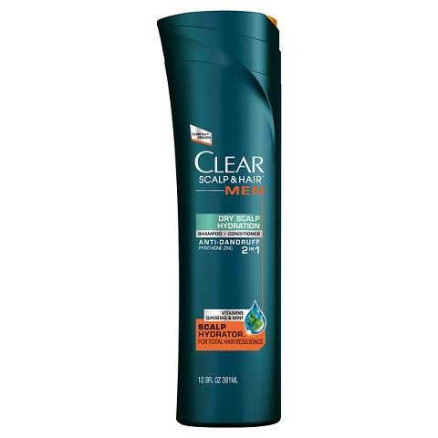 Clear Men Scalp Therapy Dry Scalp Hydration Anti-Dandruff 2 in 1 Shampoo + Conditioner 12.9 oz