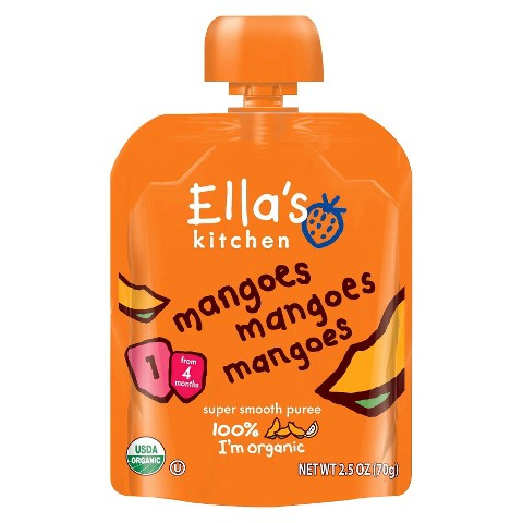 Ella's Kitchen Organic Pureed Baby Food Pouch - Stage 1 Mangoes Mangoes Mangoes 2.5oz (7 pack)