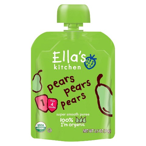 Ella's Kitchen Organic Pureed Baby Food Pouch - Stage 1 Pears Pears Pears 2.5oz (7 pack)