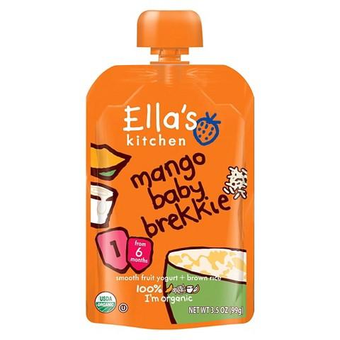 Ella's Kitchen Organic Pureed Baby Food Pouch - Stage 1 Mango Brekkie 3.5oz (7 pack)