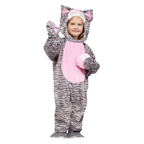 Infant/Toddler Girl Grey Kitten Costume