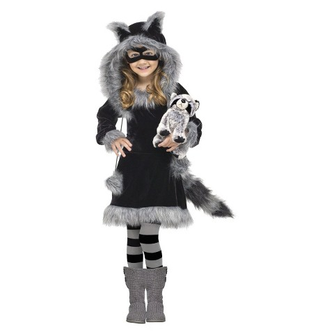 Toddler Girl Sweet Raccoon Costume 3T-4T