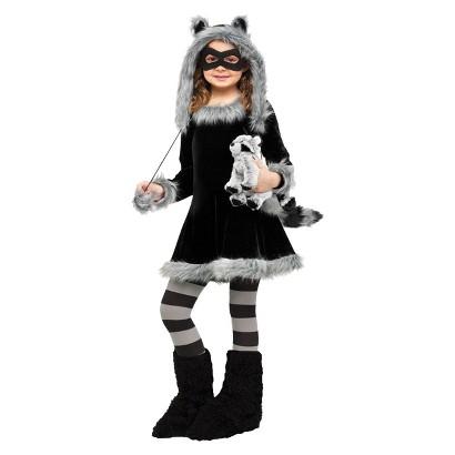 Girl's Sweet Raccoon Costume