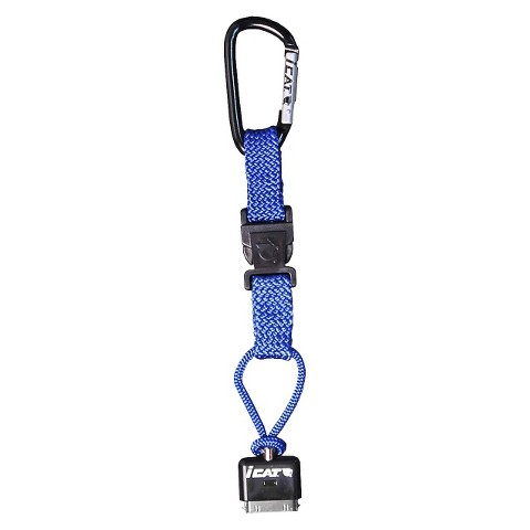 iCat Hang iT Carabiner Leash with Soft End Attachment for iPhone® - Blue (11015CP-C23)