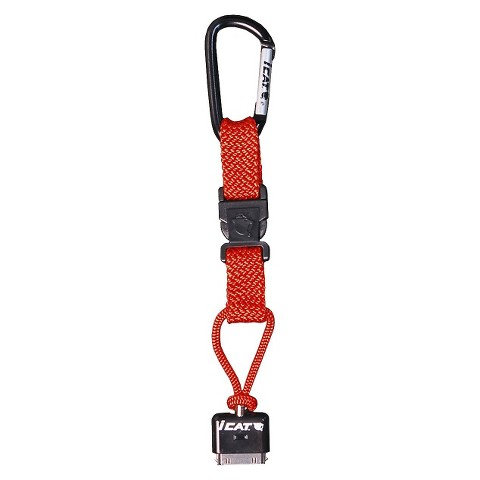 iCat Hang iT Carabiner Leash with Soft End Attachment for iPhone® - Orange (11015CP-C98)