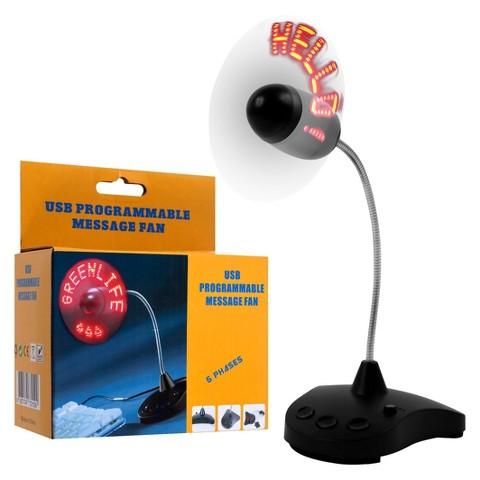 TG Programmable LED Message Fan - White/Black (72-CP278)