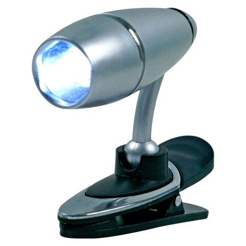 Trademark Global Brilliant LCD Clip-on Light - Silver