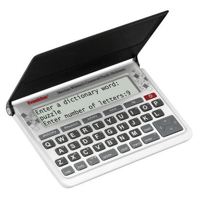 Franklin Merriam-Webster Crossword Puzzle Dictionary - Gray/Black (CWP-570)