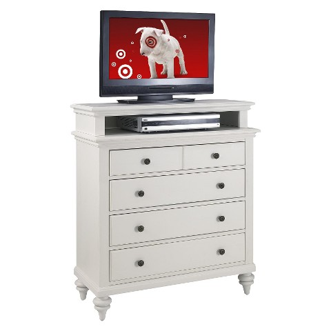 Home Styles Bermuda Media Dresser - White