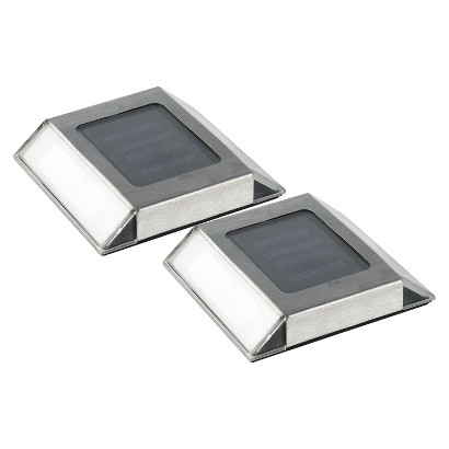 Nature Power 2-pk. Solar Pathway Lights - Silver