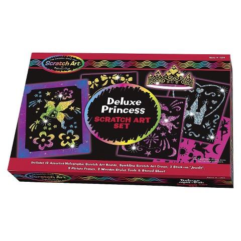 Melissa & Doug Deluxe Princess Scratch Art Set