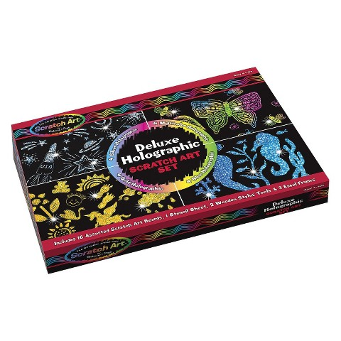 Melissa & Doug Deluxe Holographic Scratch Art Set