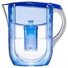 Brita Grand Water Filtration Pitcher Blue Patterned 10 cup