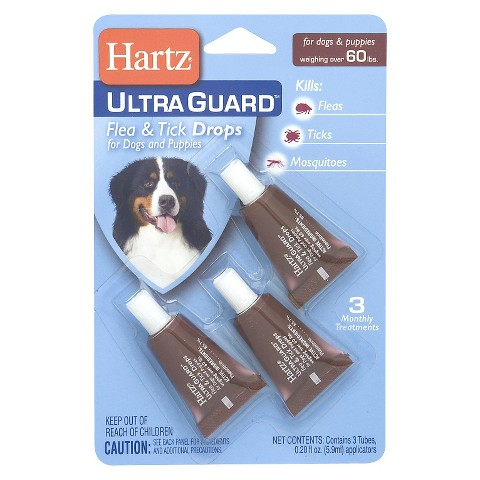 Hartz® UltraGuard Plus® Flea and Tick Drops for Dogs and Puppies Weighing over 60lbs - 3 Count