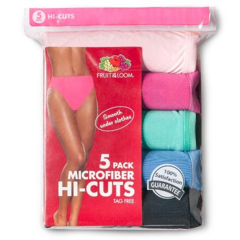 Fruit of the Loom® Women's Microfiber Hi-Cut 5-Pack (Colors May Vary)
