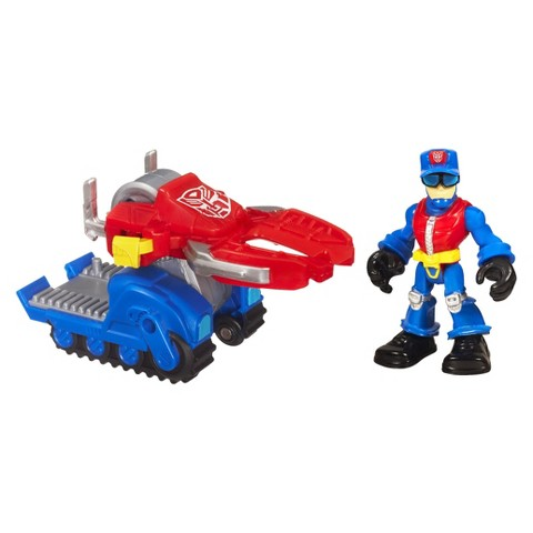 Transformers Rescue Bots Playskool Heroes Chief Charlie Burns and Rescue Cutter Set