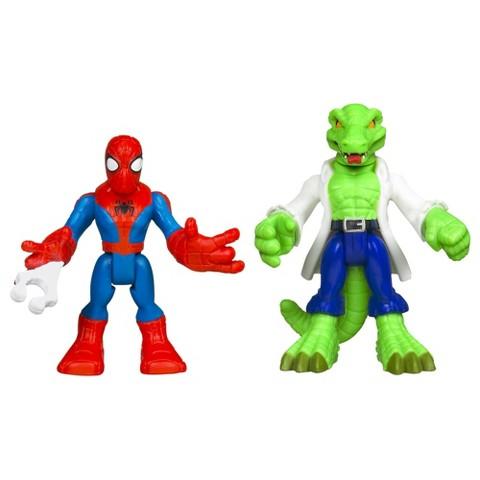 Marvel Spider-Man Adventures Playskool Heroes Spider-Man and Lizard - Pack of 2