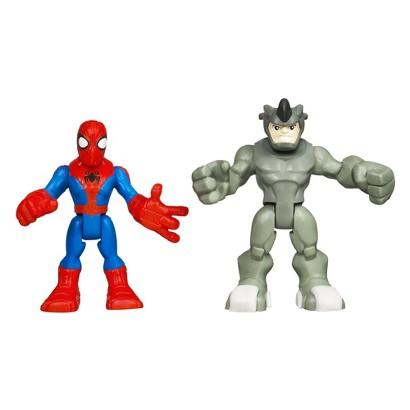Marvel Spider-Man Adventures Playskool Heroes Spider-Man and Rhino - Pack of 2