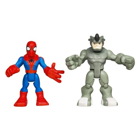 Marvel Spider-Man Adventures Playskool Heroes Spider-Man and Rhino - Pack of 2