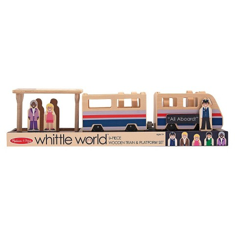 Melissa & Doug® Whittle World-Train Platform Set