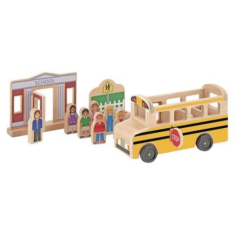 Melissa & Doug® Whittle World - School Bus Set
