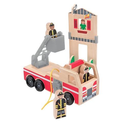 Melissa & Doug® Whittle World-Fire Rescue Play Set