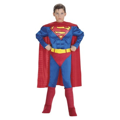 Image of Boy's Superman Muscle Chest Costume