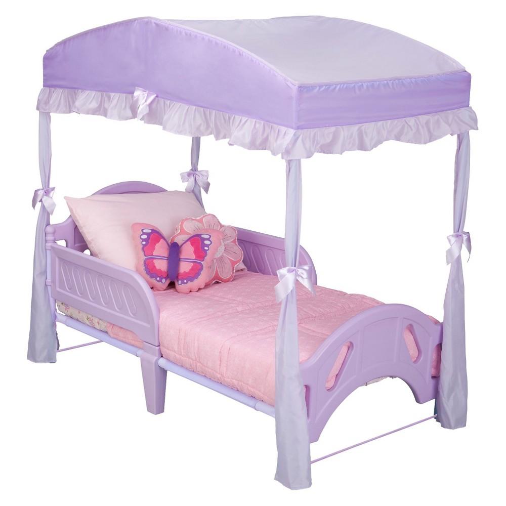 Delta Children Girls' Toddler Bed Canopy - Purple