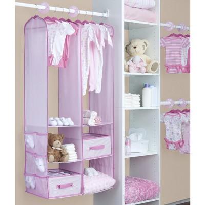 Delta Children 24 Piece Nursery Closet Organizer - Pink