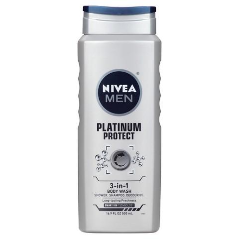 Nivea for Men Platinum Protect Deodorizing 3-in-1 Body Wash - 16.9 oz