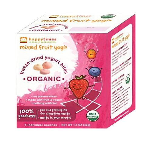 Happy Baby Happy Times Organic Freeze-Dried Yogurt Bites - Mango Strawberry (6 Pack)