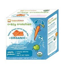 Happy Baby Happy Times Organic Freeze-Dried Carrot Apple Bites (6 Pack)