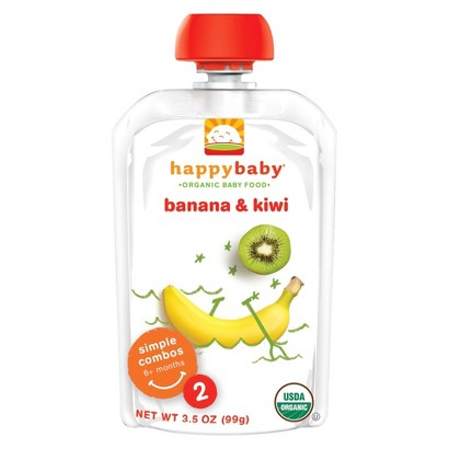 Happy Baby Organic Baby Food Pouches Stage 2 - Banana Kiwi (16 Pack)
