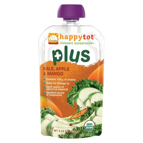 Happy Tot Organic Baby Food Pouch - Kale, Apple & Mango (16 Pack)