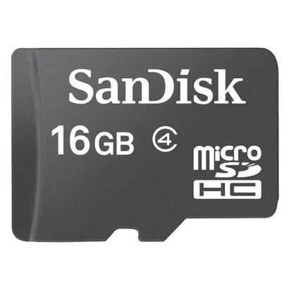 SanDisk 16GB microSDHC Memory Card - Black (SDSDQ-016G-A11A)