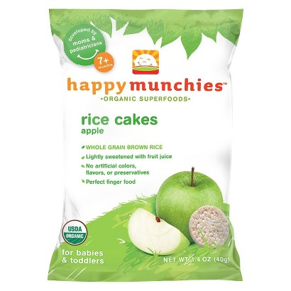Happy Baby Happy Munchies Organic Rice Cakes - Apple (10 Pack)