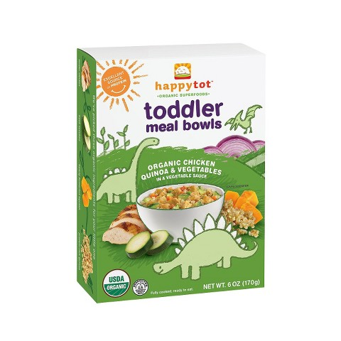 Happy Baby Happy Tot Organic Toddler Meal Bowls - Chicken, Veggie & Quinoa (12 Pack)