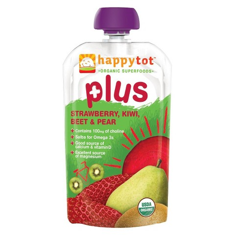 Happy Baby Happy Tot Organic Superfoods Plus - Strawberry, Kiwi, Beet & Pear (16 Pack)