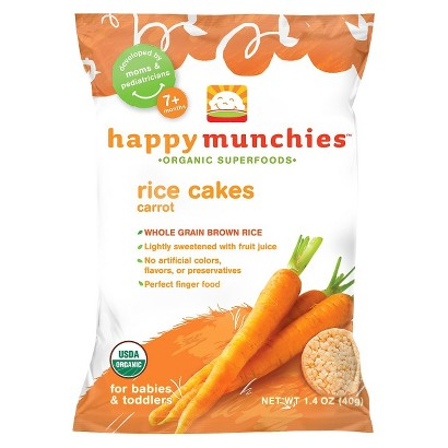 HappyBaby HappyMunchies Organic Carrot Rice Cakes (10 Pack)