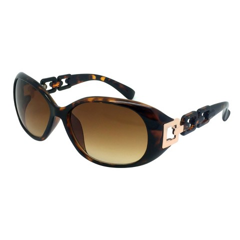 Modified Oval Sunglasses - Tortoise