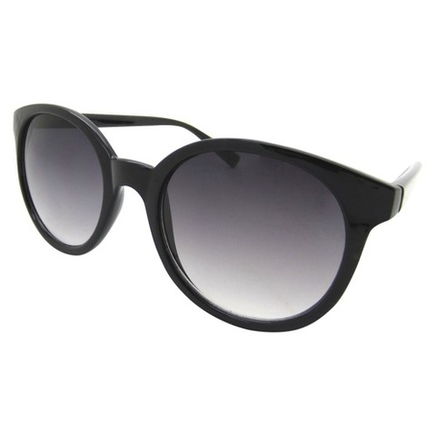 Women's Retro Round Sunglasses - Black - Xhiliration™