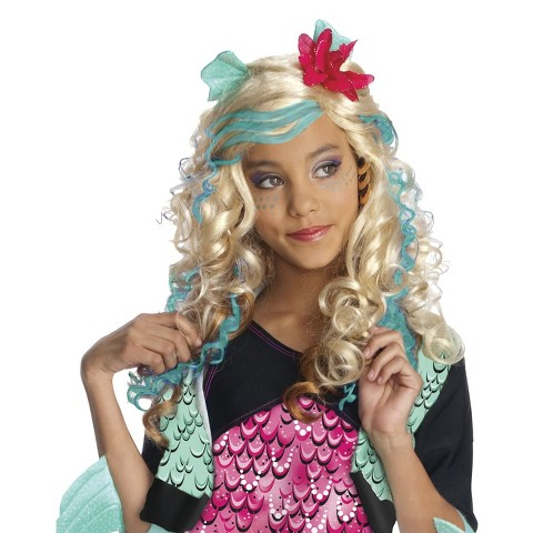 Monster High Lagoona Blue Wig - One Size Fits Most