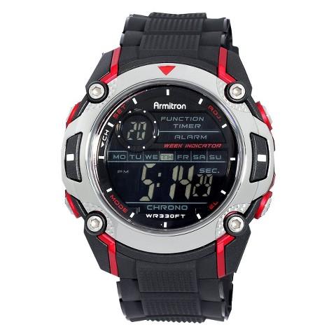 Armitron Men's Black Digital Sport Watch