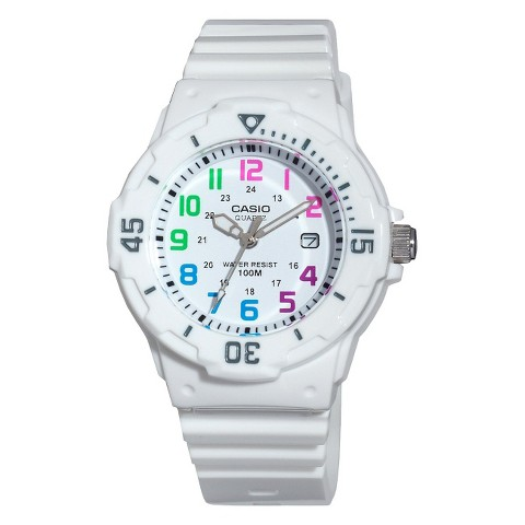 Casio Women's Diver Style Watch - White - LRW200H-7BVCF