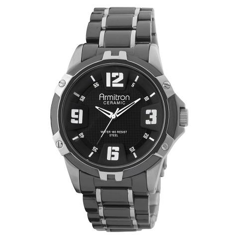 Armitron Men's Black Ceramic Bracelet Watch
