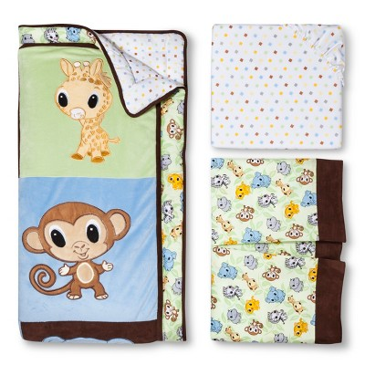 Trend Lab Chibi Zoo 3Pc Crib Bedding Set - Sage/Brown