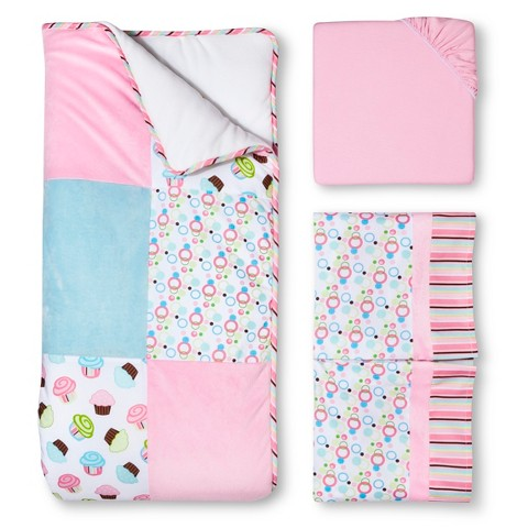 Trend Lab Cupcake 3Pc Bedding Set - Pink/Turquoise