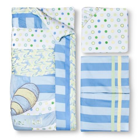 Trend Lab Dr Seuss 3Pc Crib Bedding Set - Blue